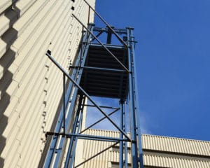 heavy duty, exterior material lift; industrial elevator lift systems